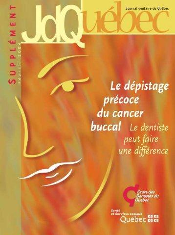 Document (PDF 1.2Mo) - Ordre des dentistes du Québec