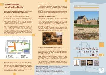 Plaquette site Saint-Lupien - Ville de Rezé