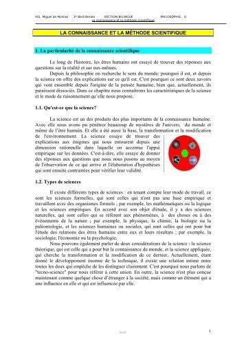 2. La connaissance - IES Miguel de Molinos