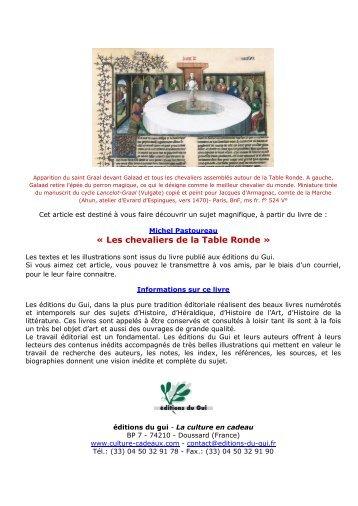 Contributions a l 39 etude d - Les chevaliers de la table ronde resume ...