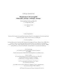 Colloque - Renaissances de la tragédie. Philosophie ... - Unesco