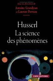 Husserl. La science des phénomènes - Decitre