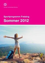 Sportprogramm Freising Sommer 2012 - ZHS