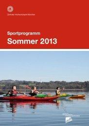 Sportprogramm Sommer 2013 - ZHS