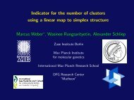 Indicator for the number of clusters using a linear map to ... - ZIB
