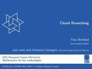 Cloud Branching - ZIB