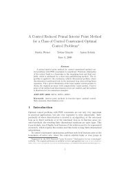A Control Reduced Primal Interior Point Method for a Class of ... - ZIB