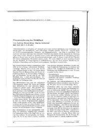 Frequenzplanung im Mobilfunk - ZIB