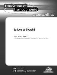 Éthique et diversité », Éducation et francophonie, vol. XXXVI ... - acelf