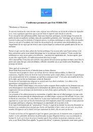 Texte de la conférence d'Éric Ferrand - Académie de Créteil