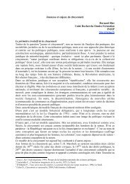 1 Jeunesse et enjeux de citoyenneté Bernard Bier Unité ... - Injep