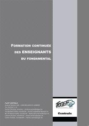 Brochure Centrale - SeGEC