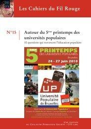 Cahiers du Fil Rouge n°15 - Université Populaire de Bruxelles