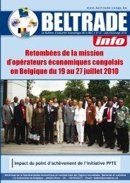 N°23 • JuILLET-AoûT-SEPTEMBRE 2010 - Beltrade-congo