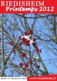 Bulletin municipal n°91 : printemps 2012 - Site de Riedisheim