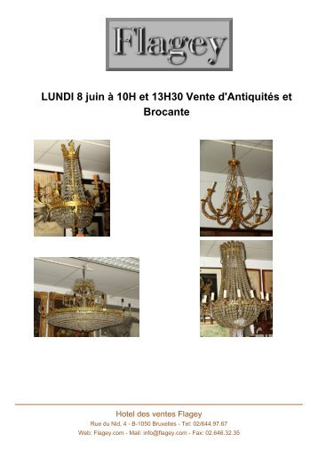 LUNDI 8 juin à 10H et 13H30 Vente d'Antiquités ... - Auction In Europe