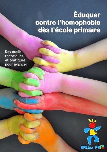 Éduquer contre l'homophobie dès l'école primaire - SNUipp