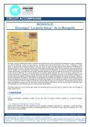 """""""La perle bleue"""" de la Mongolie - Grand Nord Grand Large"""