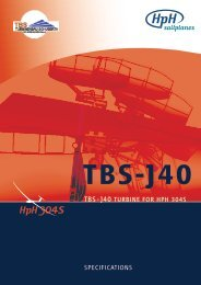TBS-J40 TURBINE foR HpH 304S SpEcIfIcaTIoNS