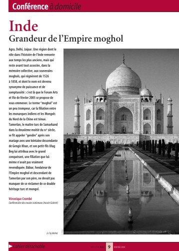 Inde, Grandeur de l'empire moghol - Arts et Vie