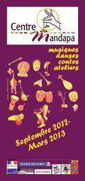 Sept 2012-mars 2013 en pdf - Centre Mandapa