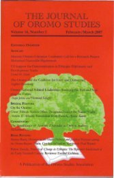 JOS volume 14 Number 1 (2007).pdf - Oromo Studies Association