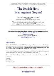 The Jewish Holy War Against Goyim! - Great White Desert