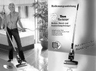 Boden-, Hand- und Fensterdampfreiniger - Tien Versand GmbH