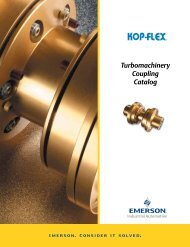 Turbomachinery Coupling Catalog - Emerson Industrial Automation