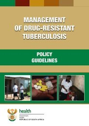 Management of Drug-Resistant Tuberculosis - Policy Guidelines