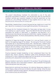 HISTORY OF TUBERCULOSIS TREATMENT