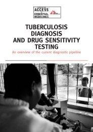 Tuberculosis Diagnosis and Drug Sensitivity Testing