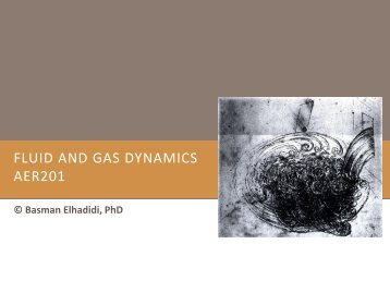 FLUID AND GAS DYNAMICS AER201