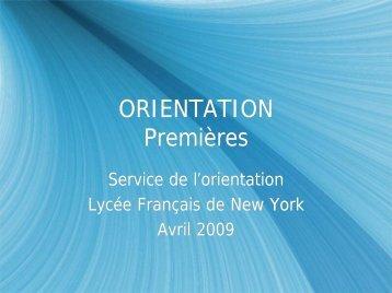 COLLEGE NIGHT Premières - Lycée Français de New York