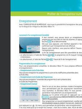 Enregistrement - Bouygues Telecom