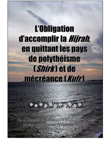 L'Obligation d'accomplir la Hijrah, en quittant les pays ... - Dhikr Allah