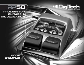 RP50 Manual French - Digitech
