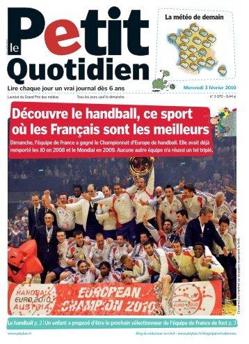 Découvre le handball, ce sport où les Français sont les ... - Play Bac