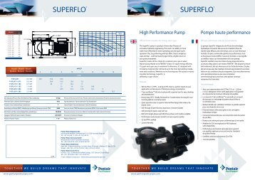 SUPERFLO® SUPERFLO® - Pentair Pool Europe