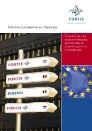 Directive Européenne sur l'épargne - BNP Paribas Fortis