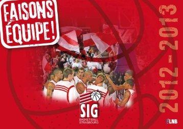 Plaquette commerciale Saison 2012/2013 - SIG Basket