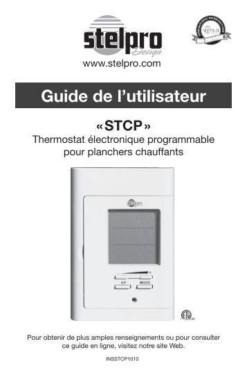 Guide de l'utilisateur - Câble Chauffant - stelpro