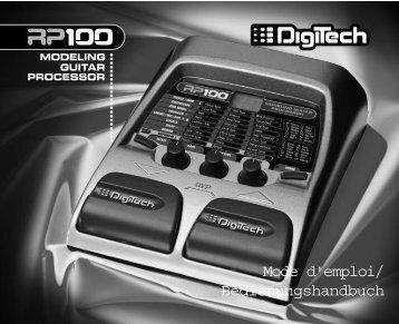 RP 100 Modeling Guitar Prozessor - Digitech