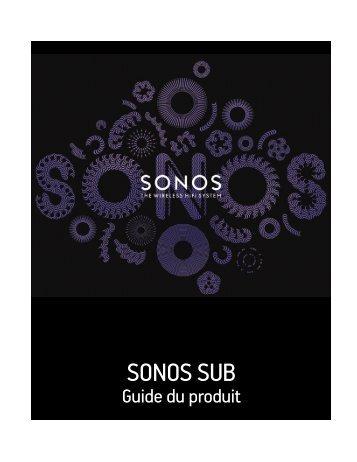 SONOS SUB Product Guide - Cobrason