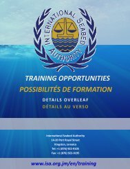 training opportunities possibilités de formation - International ...