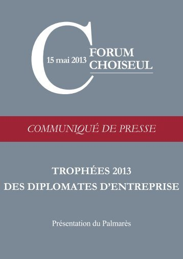 Communiqué de presse - Institut Choiseul