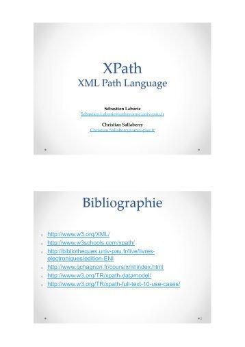 Cours 3 - XPath - IUT Bayonne