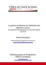 Bourgeois, Marine (2011). « La gestion quotidienne de l'attribution ...