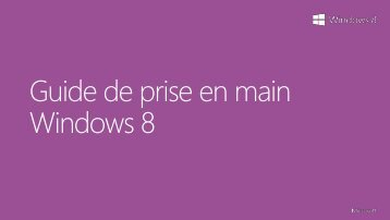 Guide de prise en main Windows 8 .pdf - D4Y.be