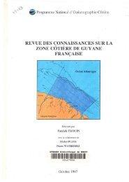 Revue des connaissances sur la zone côtière de Guyane Française